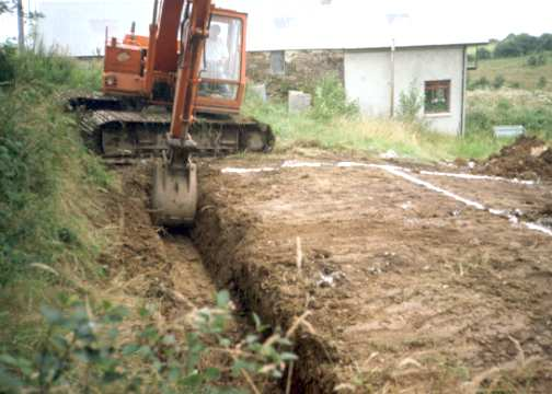 The story of a house 1998 07 for Digging foundation for house